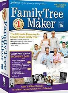 Family Tree Maker Version 16 Collector's Edition