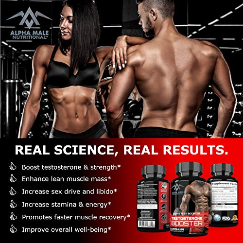 Alpha Male Combo Punch with Testosterone Booster Nitric Oxide or NO2 Booster – Stamina – Endurance – Strength – Fortifies Metabolism – Promotes Healthy Weight Loss, Fat Burning and Build More Muscle
