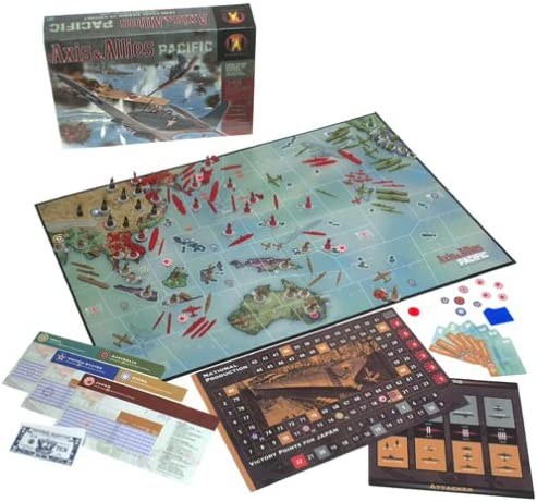 Axis /& Allies Pacific Board Game Allied Tan Colour Johnston Class Destroyer x4