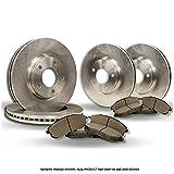 (Front+Rear Kit)(High-End) 4 OEM Replacement Disc Brake Rotors + 8 Semi-Metallic Pads(Subaru)(5lug)