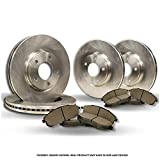 (Front+Rear Kit)(High-End) 4 OEM Replacement Disc Brake Rotors + 8 Semi-Metallic Pads(Sequoia)(6lug)