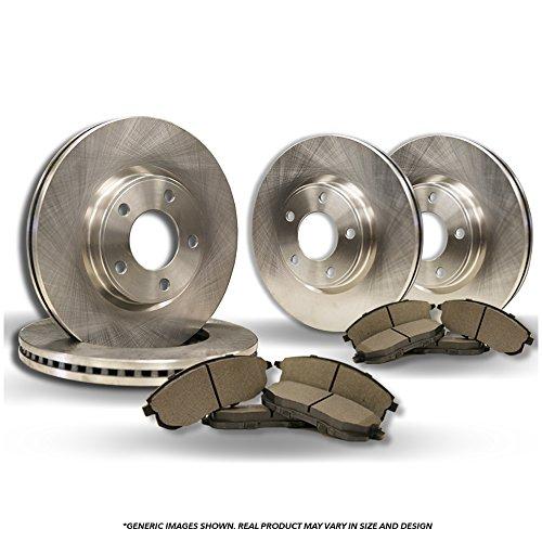 Rotors Oem Brake Replacement ((Front+Rear Kit)(High-End) 4 OEM Replacement Disc Brake Rotors + 8 Semi-Metallic Pads(Passat)(5lug))