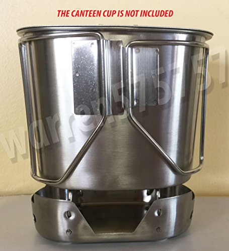 CANTEEN CUP STAND STOVE FOLDABLE. (STAINLESS STEEL)