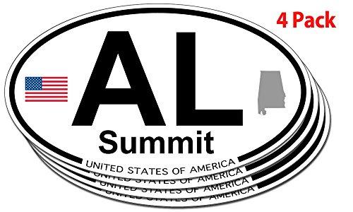 Summit, Alabama Oval Sticker - 4 - The Summit Alabama