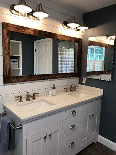 Shiplap Large Wooden Framed Mirror Available in 4 Sizes and 20 Colors: -