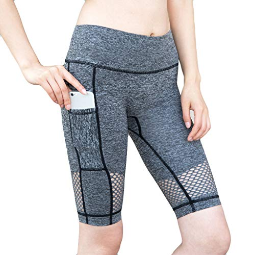 DDKK Yoga,Running, Zumba Or Crossfit - Dry-Fit Flex Pants Activewear Leggings for Women-Hollow-Out High-Waist Fitness Five-Minute Yoga Pants