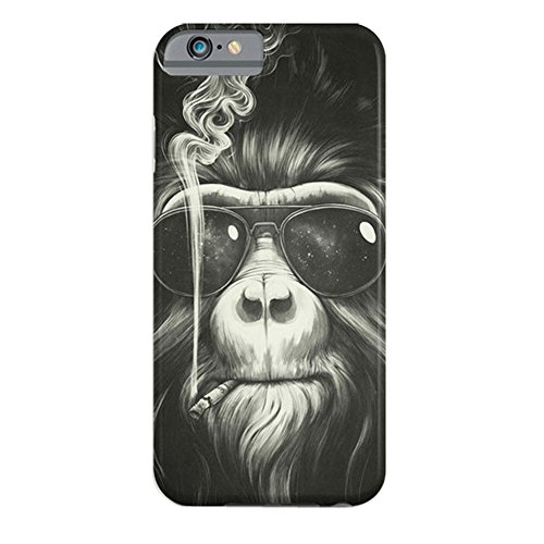 Link Slim Ultra - For iPhone 6/iPhone 6s Case, ZQ-Link® Ultra Slim Soft TPU Case Skin Cover Protective Bumper Case for Apple iPhone 6 / iPhone 6s 4.7 inch Smoking Orangoutang Design