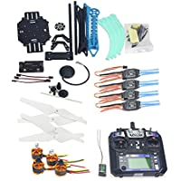 Qwinout DIY S550 2.4G 6CH RC Quadcopter Drone Unassembly Combo Set ARF BNF (No Battery) APM2.8 FC with 6M GPS