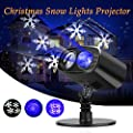 LED Projector Light,Christmas Light Projector Landscape Spotlight Waterproof with Snow Pattern for Halloween, Christmas, Valentine's Day Birthday Wedding Theme Party Garden Home Outdoor Indoor Decor