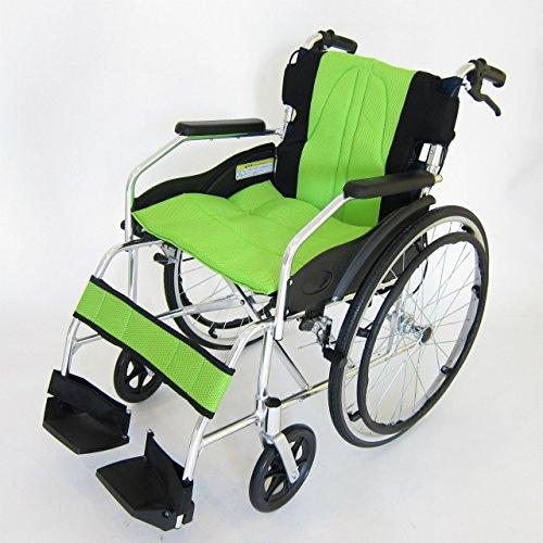 カドクラ 軽量アルミ製 自走式車椅子 ドラムブレーキタイプ Proシリーズ チャップスDB フレッシュライム A101-DBAL B07BZDXFH8