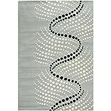 Safavieh Soho Collection SOH727C-4 Handmade Grey/Ivory Wool Area Rug, 3-Feet 6-Inchx5-Feet 6-Inch