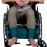 LUCKYYAN Safety Leg fixed Belt For Scooter or Wheelchair, with Velcro Free to Adjust Loose, Prevent Patients from Struggling, Green