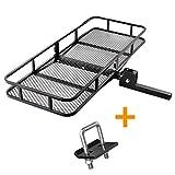 XCAR Folding Hitch Mount Luggage Cargo Basket Trailer Cargo Carrier 60