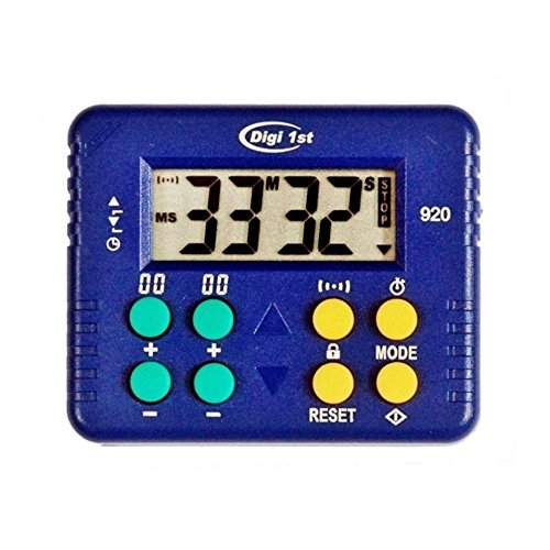 Digi 1st T-920 9999 Minute Desk Count Up and Countdown Timer with ()