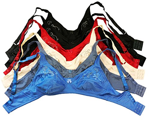 City Intimates Womens 6-Pack Unlined Wire Free Bras