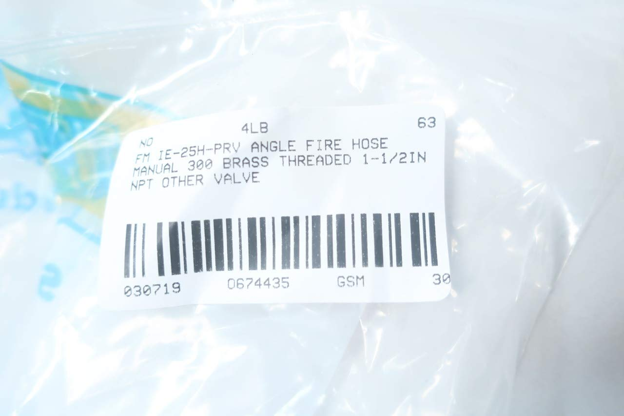 WILSON /& COUSINS IE-25H-PRV Brass FIRE Hose Angle Valve 300 1-1//2IN NPT