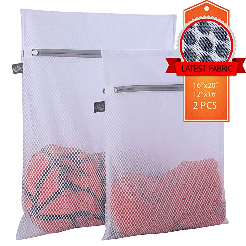 Kimmama Delicates Laundry Bag - 2 Pack Honeycomb Mesh Lingerie Wash Bag