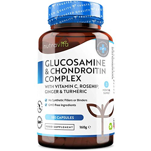Glucosamine and Chondroitin Complex – 180 High Strength Capsules – Contributes to The Maintenance of Normal Immune…