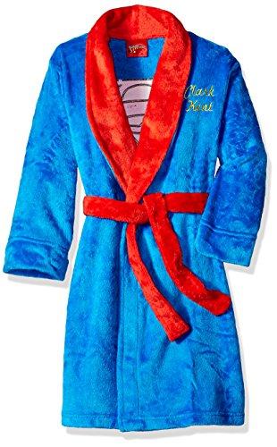 Superhero Robes (DC Comics Big Boys' Clark Kent Velvet Fleece Robe, Blue, Medium)