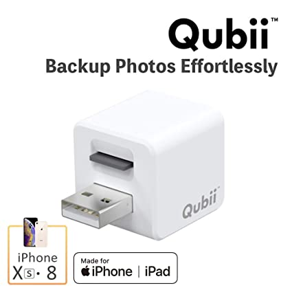 Flash Drive For I Phone, Auto Backup Photos & Videos, Photo Stick For I Phone, Qubii Photo Storage Device For I Phone & I Pad【Micro Sd Card Not Inculded】  White by Maktar