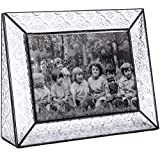 J Devlin Pic 126-57H Picture Frame Tabletop 5x7 Horizontal Photo Frame Vintage Glass Wedding Anniversary Family