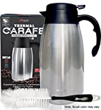 #9: Thermal Coffee Carafe Stainless Steel - Heavy Duty, 24hr Lab Tested Heat Retention, 2 Liter 68oz Insulated Coffee Thermos, Water & Beverage Dispenser, Premium Grade Thermal Pot by Pykal