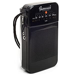 AM // FM Pocket Radio with Superior Reception - Battery Powered, Built-in Speaker, 3.5mm Headphone Jack