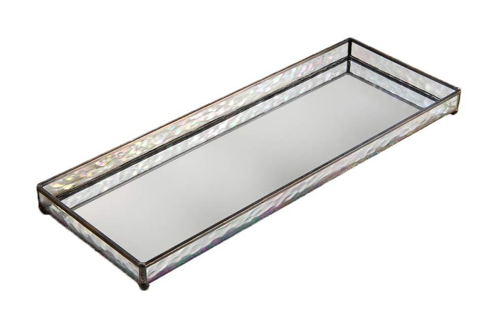 J Devlin TRA 103 Vanity Tray Glass Mirrored Jewelry Display Organizer 16