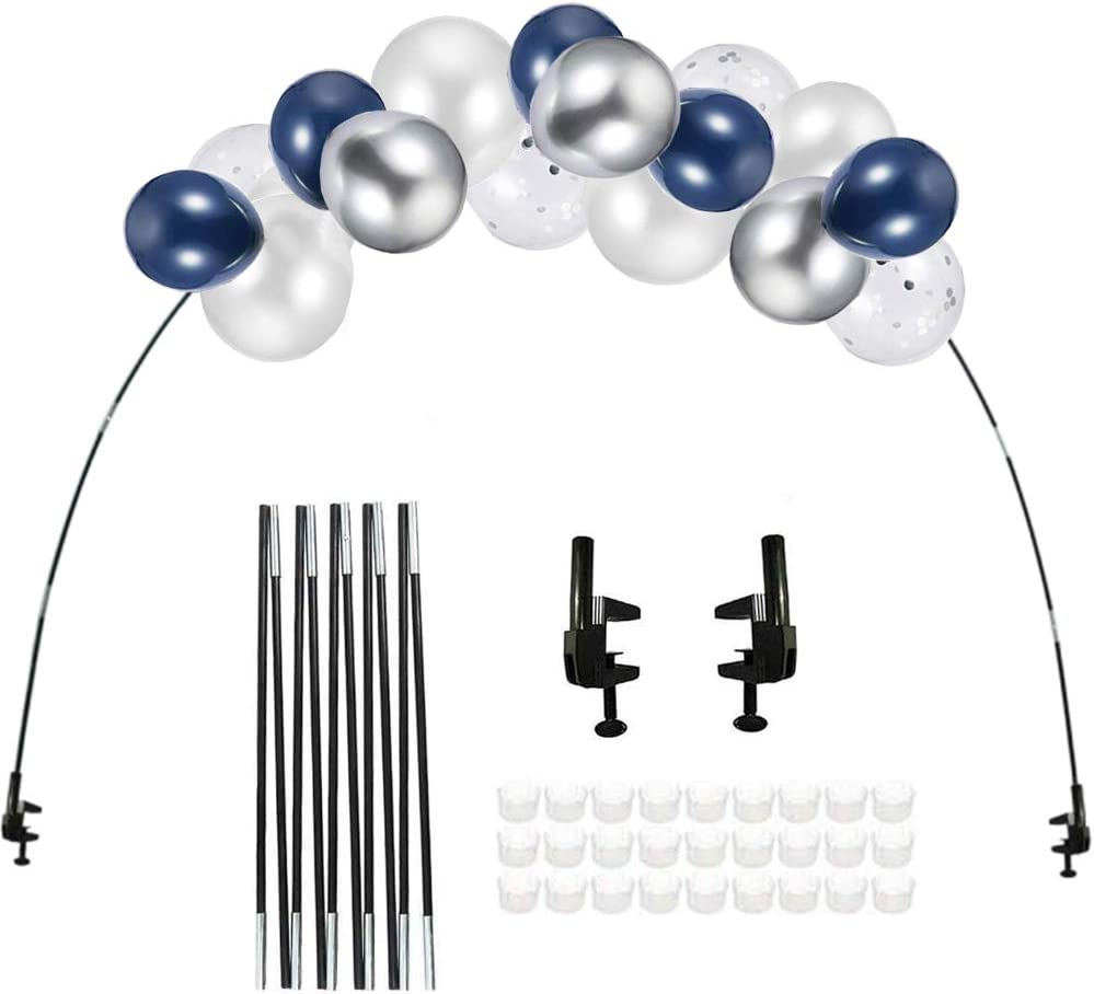 CASTELBELBO Arch Stand Balloon Arch Balloon Arch kit for Birthday Decorations, Weddings, Parties and Graduation Decorations of Latex Balloons (12-Foot Desktop)