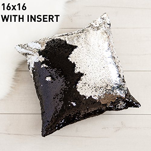 16x16-mermaid-pillow-with-insert-sparkling-black-with-flip-sequin-throw-pillow-mermaid-magic-glitter