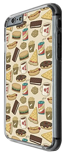 919 - Collage Food Burger Fries Pizza Coffee Design For iphone 5 5S Fashion Trend CASE Back COVER Plastic&Thin Metal -Clear