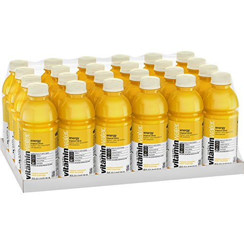 vitaminwater energy electrolyte enhanced water w/ vitamins, tropical citrus drinks, 20 fl oz, 24 Pack