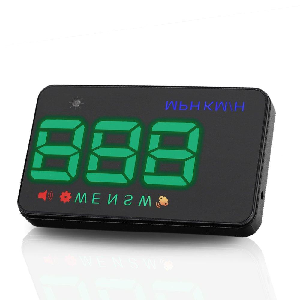 LEANINGTECH A5 allgemein GPS, HUD Head-Up Display, KMH MPH Tachometer mit 2 Modi (HUD/Standard) Alarmfunktionen vor Ü bergeschwindigkeit, Zigarettenanzü nder, Kompaß , Projektor fü r Windschutzscheiben