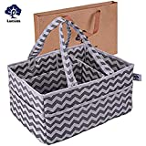 Baby Diaper Caddy Organizer Lucoss Cotton Larger Portable Nursery Storage Bins Baby Shower Gift Basket for Home Car Or Travel Organization