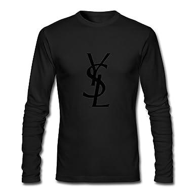 Amazon.com: YVES SAINT LAURENT Men's Printing Long Sleeve T Shirt ...