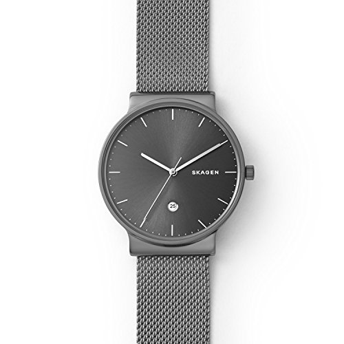 Skagen Men's Ancher Three Hand Gray-Tone Titanium Watch SKW6432