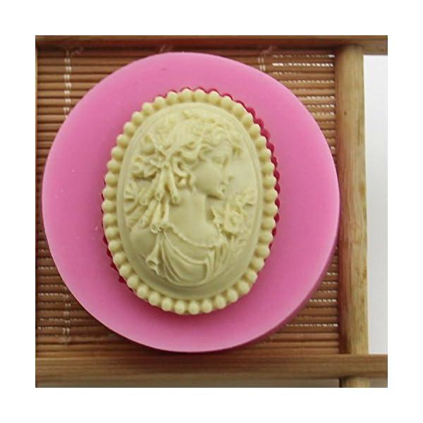 1X stampo in silicone ragazza Avatar Stile, Cubo di ghiaccio vassoi Cioccolato di Silicone stampo usare per torte, Cioccolato, gelati, torte, saponi, Cioccolato stampo (Rosa) 5 spesavip