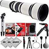 Opteka 650 to 2600mm W f/8 Telephoto Zoom Sports, Wild Life and astrophotography Lens for Canon EOS Digital SLR Cameras 80D, 77D, 70D, 60D, 7D, 6D, 5D, 7D Mark II, T7i, T6s, T6i, T6, T5i, T5, SL1 &