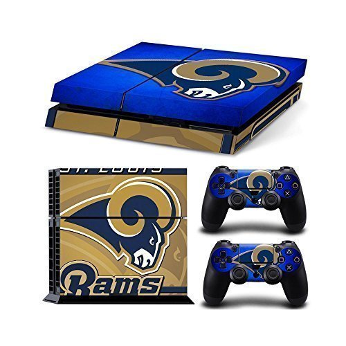 Sony PlayStation 4 Skin Decal Sticker Set - NFL St.Louis Rams (1 Console Sticker + 2 Controller -