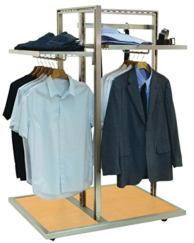 Pearl District 3-Way Garment Display Rack Retail Clothing Store Fixture NEW by Unknown