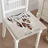 Mikihome Outdoor Chair Cushion Native Dreamcatcher s Design Technology Graphic Print Never Stop Comfortable, Indoor, Dining Living Room, Kitchen, Office, Den, Washable 24''x24''x2pcs