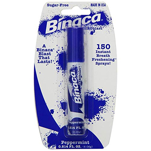 Binaca blast Breath Spray Peppermint flavor (pack of 6) -