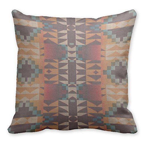 Motif Rodeo (Plusone Modern Eclectic Rodeo Ranch Motif Rustic Southwest Navajo Cherokee Tribe Square Throw Pillow Covers 18