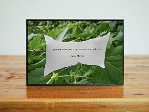 Inspirational Poetry Quote Small Framed 4x6 Photo Artwork Bright Green Leaves Nature Gift by Erin Plewes Creative Art