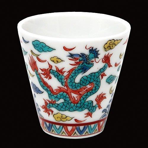 KUTANI YAKI(ware) Sake Cup Dragon