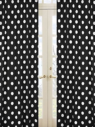 - Sweet Jojo Designs 2-Piece Hot Dot Modern Window Treatment Panels
