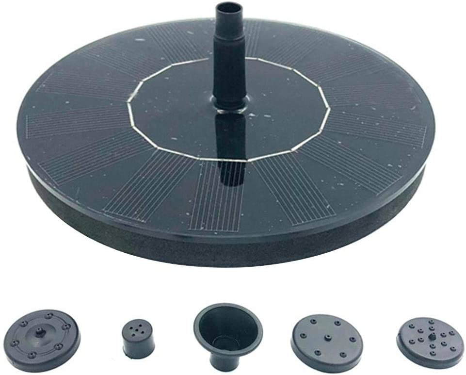 ZY123 Solar Fountain 1.6W Solar Powered Water Fountain Pump,Solar Birdbath Fountain Pump With 4 Water Spray For Small Pond,Pool,Garden And Lawn