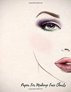 Blank Face Charts For Makeup Artists: Female Faces Large Notebook ...