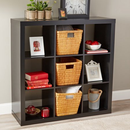 Better Homes And Gardens Easy To Assemble 9 Cube Versatile Storage Organizer Solid Black