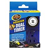 Zoo Med AquaSun Dual Timer Custom 2 Outlet Timer Day/Night Timer Cycle